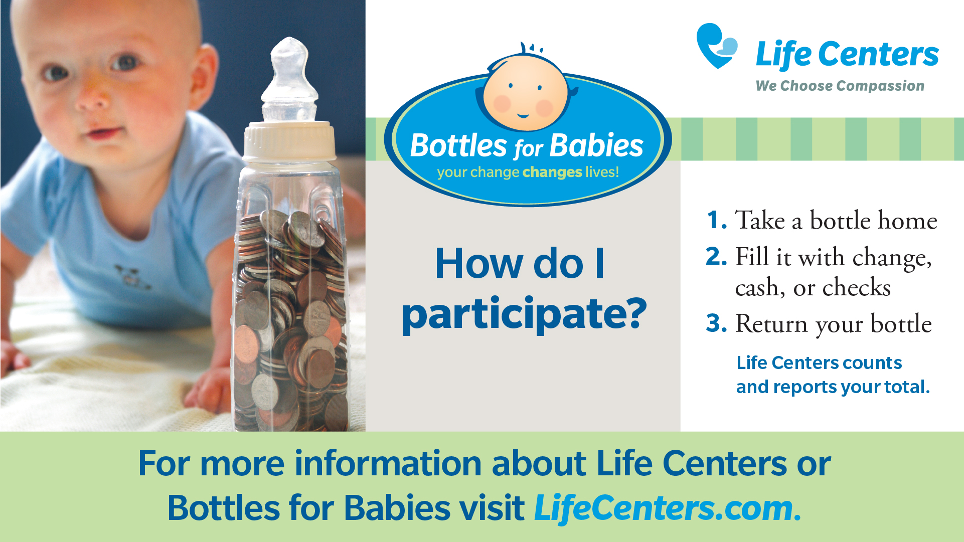 Baby Bottle Campaign Life Centers